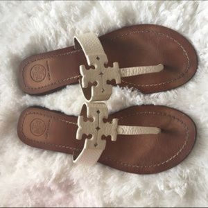 Ivory Tory Burch Moore Sandals.